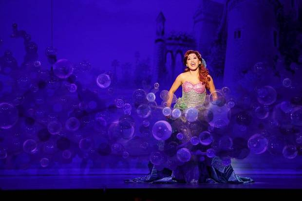 "Diana Huey appears in a performance of Disney's ""The Little Mermaid,"" playing through Sunday at the Civic Center Music Hall as part of the OKC Broadway 2017-18 season. Photo by Mark & Tracy Photography"