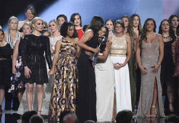 Larry Nassar abuse survivors receive courage award at the ESPYs