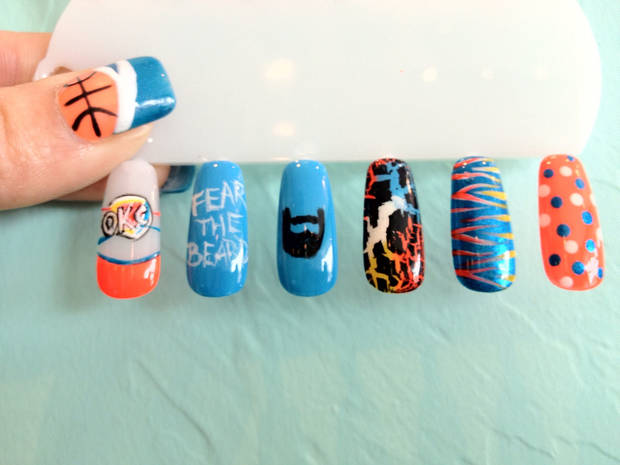 photo - Nail art from Polished Nails in Yukon. Photo provided.