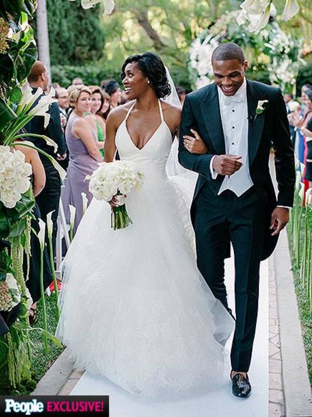 OKC Thunder's Russell Westbrook marries Nina Earl in star-studded Beverly Hills ceremony