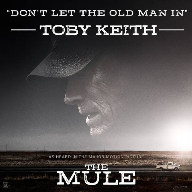 "Toby Keith's new song ""Don't Let the Old Man In"" will be released Friday as a single and featured in Clint Eastwood's upcoming movie ""The Mule."" Cover art provided"