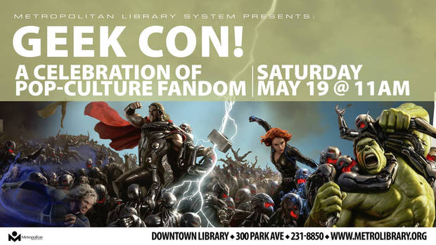 Geek Con is set for May 19 at the Downtown Library.