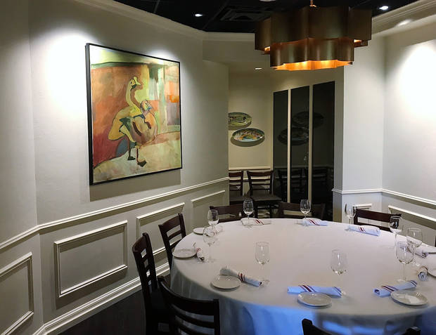 Private dining at Bellini's. [Dave Cathey/The Oklahoman]