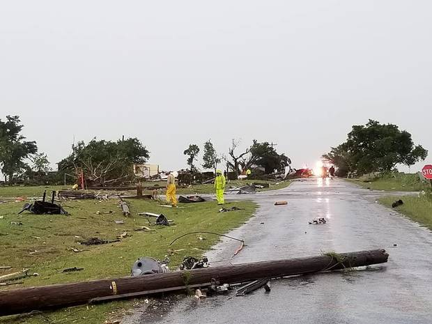 Damage from a Saturday morning tornado in Comanche County. [Photo provided by Comanche County Emergency Management]