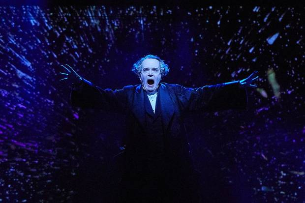 "Tony Award winner Jefferson Mays stars in ""A Christmas Carol."" [Photo by Chris Whitaker/Geffen Playhouse]"