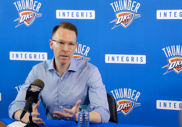Sam Presti and the Thunder hold the No. 21 pick in Thursday's NBA Draft. [PHOTO BY CHRIS LANDSBERGER, THE OKLAHOMAN]