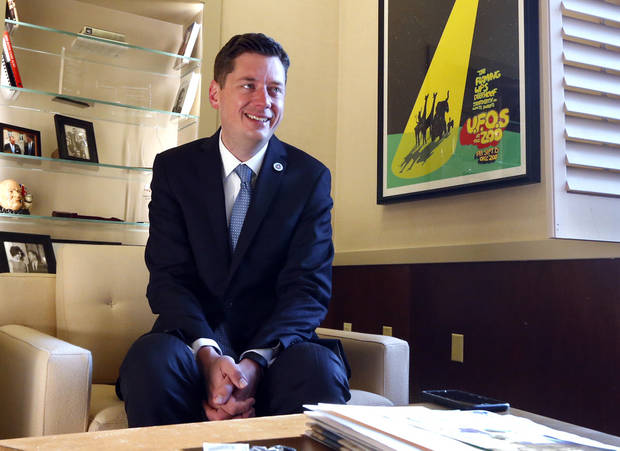 Mayor David Holt will make remarks Thursday at the observance of the 23rd anniversary of the Oklahoma City bombing. [Photo by Steve Sisney, The Oklahoman]