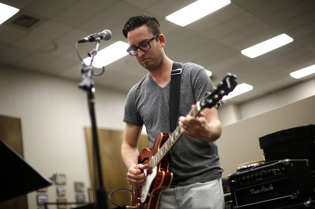 photo -  Matt Stansberry rehearses with his band at Oklahoma Christian University. Photo by Garett Fisbeck, For The Oklahoman   Garett Fisbeck -  Garett Fisbeck