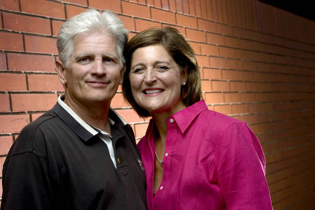 photo - Altus Athletic Director Rick Roop poses for a photo with his wife Vickie Roop in Oklahoma City, Thursday, July 10, 2008. BY BRYAN TERRY, THE OKLAHOMAN ORG XMIT: KOD