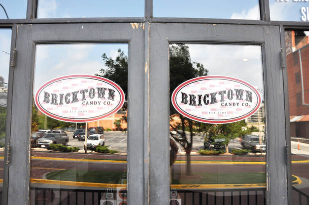 photo - The doors to the new Bricktown Candy Co.  PROVIDED BY BRICKTOWN  CANDY CO.