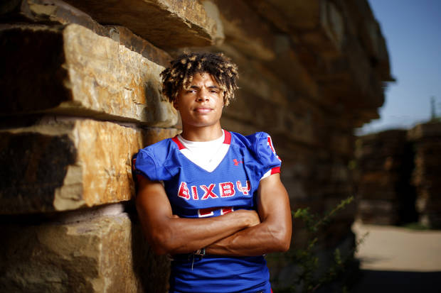 Bixby's Jordan Reagan poses for a photo for The Oklahoman's Super 30 high school football player series at The Gathering Place in Tulsa, Okla., Thursday, June 20, 2019. [Bryan Terry/The Oklahoman]