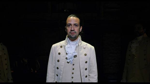 "Lin-Manuel Miranda plays Alexander Hamilton in ""Hamilton."" [Disney photo]"