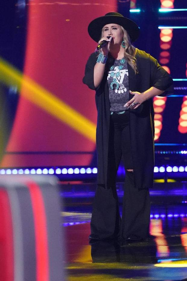 "Bailey Rae appears on ""The Voice."" [Photo by Tyler Golden/NBC]"