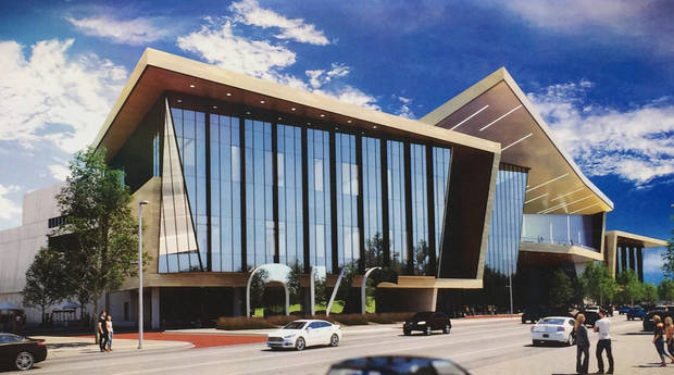 Architects' rendering of the MAPS 3 convention center in Oklahoma City. [Populous/City of Oklahoma City]