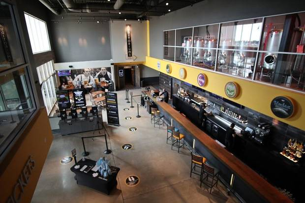 Oklahoma City's Flix Brewhouse hosted a media tour Monday, August 31, 2020, ahead of its Wednesday opening. [Doug Hoke/The Oklahoman]
