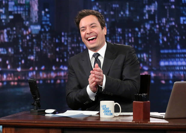 photo - FILE- In this Feb. 21, 2013 file photo released by NBC, Jimmy Fallon, host of