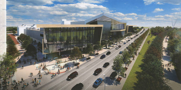 The MAPS 3 convention center is expected to open in 2020. [City of Oklahoma City/Populous]
