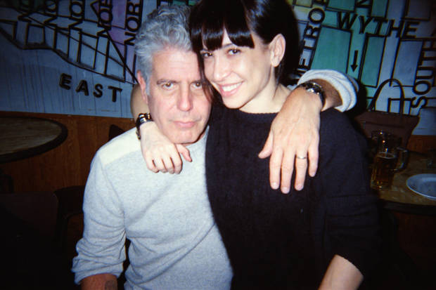 photo -  Anthony Bourdain and his wife, Ottavia Busia. The celebrity chef and author has contributed photos, including this one, for publication in Tepsic Magazine. PHOTO PROVIDED