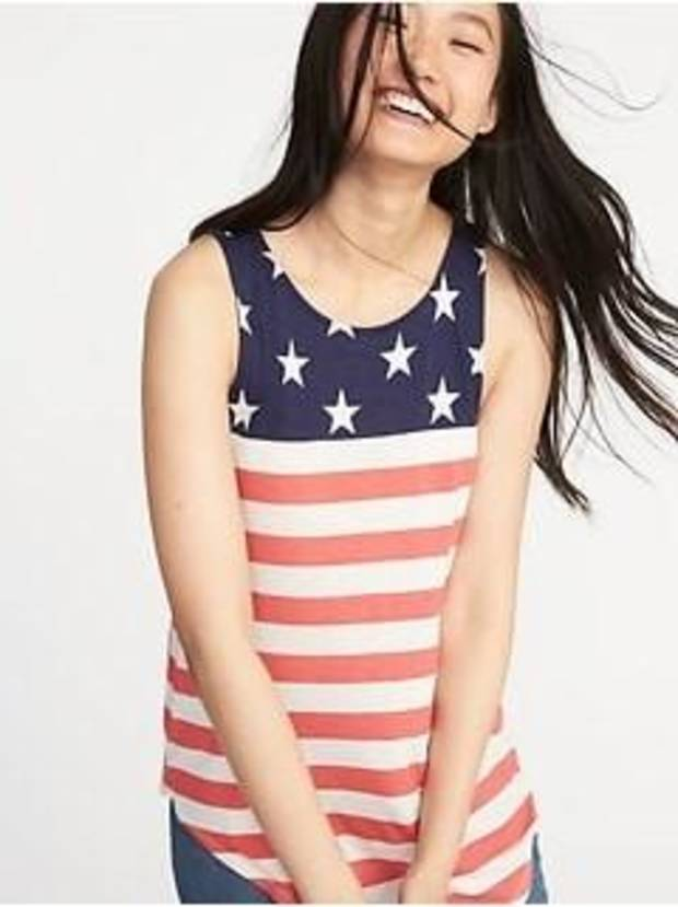 Stars and stripes tank, $18, Old Navy.