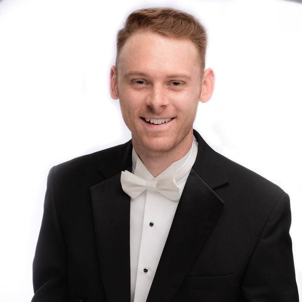 Patrick Womack plays percussion for the Oklahoma City Philharmonic. [Photo provided]
