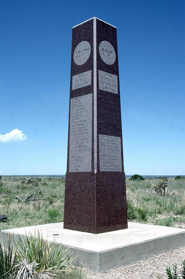 A marker designates Black Mesa as the state's highest point at 4,973 feet above sea level. [The Oklahoman Archives]