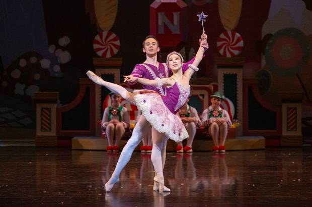 DaYoung Jung and Alvin Tovstogray, Principals, perform as Sugarplum Fairy and her Cavalier. [JANA CARSON]