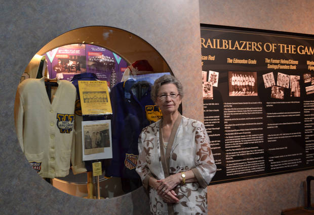 photo - Oma Gean Capps was honored in June at the Women's Basketball Hall of Fame as one of the players on the Flying Queens. Photo provided.