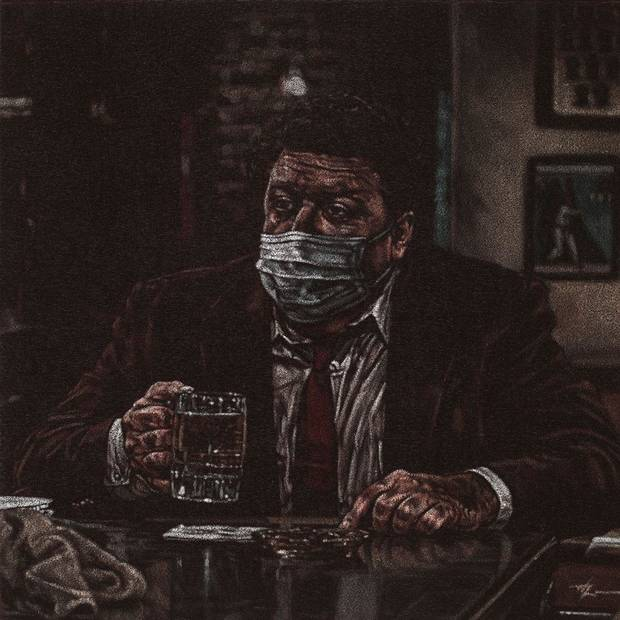 "Trent Lawson's painting ""The New Norm"" is one of the 175 works for sale in Oklahoma Visual Arts Coalition's 12x12 Art Fundraiser, which is going virtual in 2020 due to the coronavirus pandemic. [Image provided]"