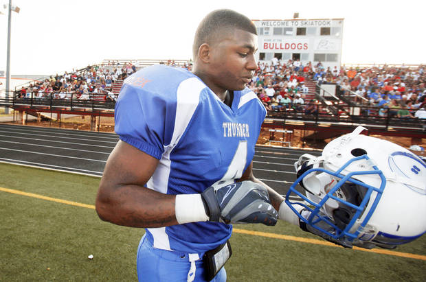 photo - Before Friday night, Prentiss Elliott had 14 touchdowns on 19 total receptions for the Oklahoma Thunder in the World Football League.  Photo by Sarah Phipps, The Oklahoman