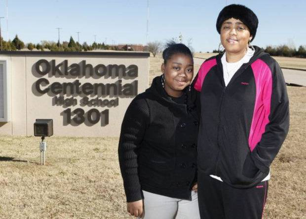 photo - Centennial High School freshman Ronesha Johnson and her mother, Yvette Weaver, are concerned about the academic quality at the northeast Oklahoma City school. PHOTO BY STEVE GOOCH, THE OKLAHOMAN <strong>Steve Gooch - The Oklahoman</strong>
