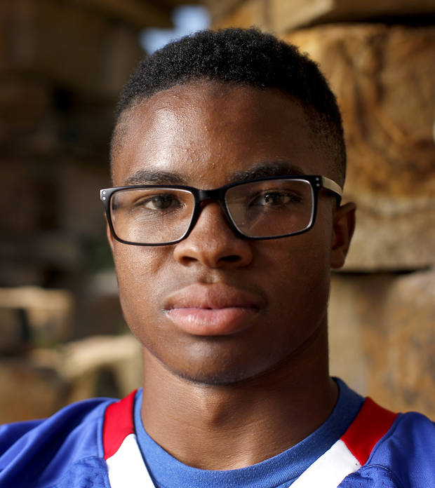 Bixby's Brennan Presley poses for a photo for The Oklahoman's Super 30 high school football player series at The Gathering Place in Tulsa, Okla., Thursday, June 20, 2019. [Bryan Terry/The Oklahoman]