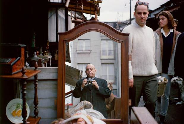 photo - Self-Portrait at a Flea Market, Paris, France, 1966, by Stanley Marcus, Digtal pigment print