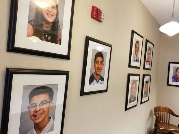 The mayor's conference room in Oklahoma City is decorated with photos of local kids, reflecting the demographics of the city. Photo by Ben Felder.