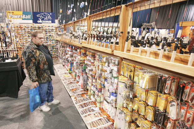 photo - For the first time in 30 years, there will be no Oklahoma Tackle Show at State  Fair Park. The slow economy forced cancellation of this year's show, originally scheduled Feb. 12-15. Photo By Steve Gooch, THE OKLAHOMAN