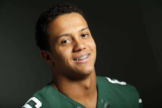 photo - Jordan Evans of Norman North. Photo by Nate Billings, The Oklahoman