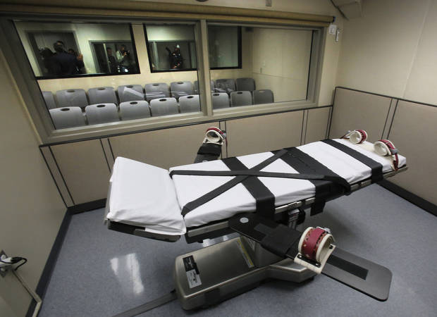 The execution chamber at the Oklahoma State Penitentiary in McAlester is shown on October 9, 2014. Photo by David McDaniel, The Oklahoman