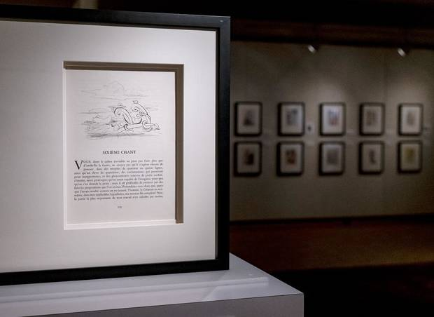 "Artwork by Salvador Dali is on display in the exhibit ""Salvador Dali's Stairway to Heaven: Illustrations for Les Chants de Maldoror and the Divine Comedy"" at the Mabee-Gerrer Museum of Art in Shawnee, Okla. on Friday, Sept. 25, 2020. [Chris Landsberger/The Oklahoman]"