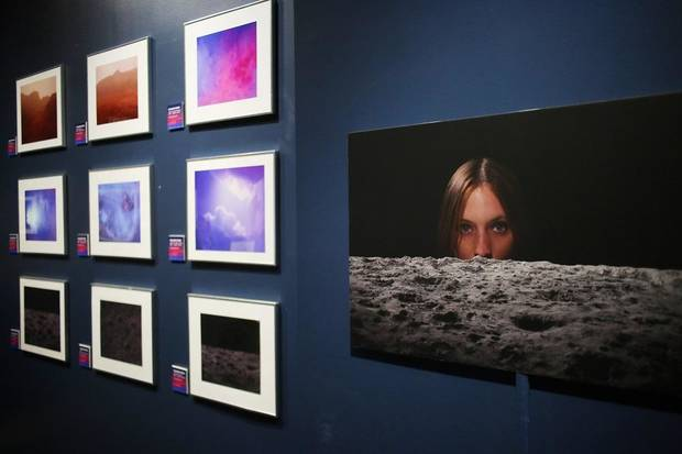 "Los Angeles artist Cassandra Hanks' constructed photography is included in the Science Museum Oklahoma's smART Space exhibit ""Cosmic Culture: Intersections of Art and Outer Space."" [Photo by Doug Hoke/The Oklahoman]"