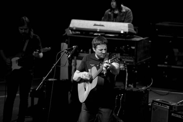 Sturgill Simpson and his band perform live at The Criterion in downtown Oklahoma City. [Photo provided by Nathan Poppe]
