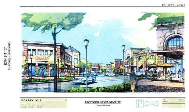 Drawings of the proposed The Shops at Spring Creek. It may still happen at 15th Street and Bryant Avenue.