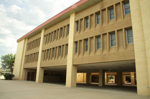 photo - Between 600 and 1,200 unaccompanied children, mostly from Central America, will be housed in this building on Fort Sill. The building, built in 1986, has 20 sleeping bays that hold 60 beds each. The building was last occupied by soldiers in April. Photo courtesy Fort Sill Public Affairs.