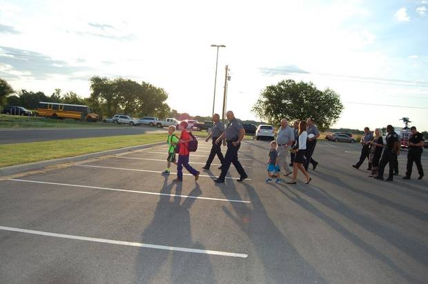 ... School by Oklahoma City police officers and Oklahoma County sheriff's