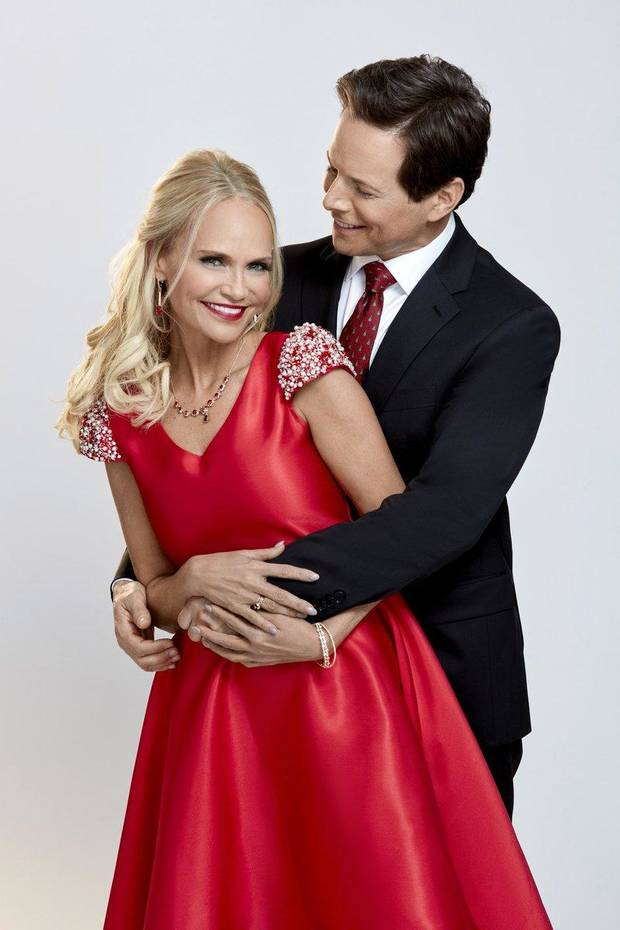 "Kristin Chenoweth and Scott Wolf star in the Hallmark holiday movie ""A Christmas Love Story."" [Photo provided]"