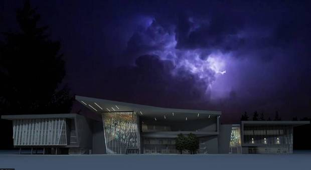 The city council will be asked to authorize contract negotiations with the Narduli Studio/HLB Lighting Design team on its art proposal for the MAPS 3 convention center. [City of Oklahoma City]