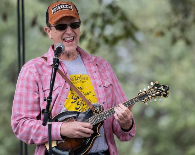 Jim Paul Blair performs at the 2018 Oklahoma International Bluegrass Festival in Guthrie. [Tom Dunning photo]