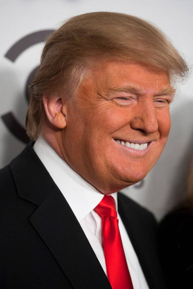 "In this photo taken March 9, 2011, Donald Trump arrives at a Comedy Central Roast in New York. Though Trump's presidential prospects drew laughs when he was roasted by several stand-up performers the 64-year-old real estate tycoon insists he is serious, rejecting skeptics' claims that he's using the publicity to draw viewers to ""Celebrity Apprentice,"" the NBC network reality program he co-produces and hosts. Trump says he'll make a decision by June on whether to join the field of GOP contenders vying to challenge Obama in 2012. (AP Photo/Charles Sykes) ORG XMIT: WXSC109"