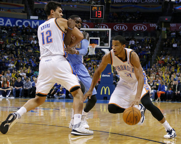 photo - The Thunder's Andre Roberson has been recalled back to Oklahoma City after spending four games with the Tulsa 66ers.  Photo by Bryan Terry, The Oklahoman