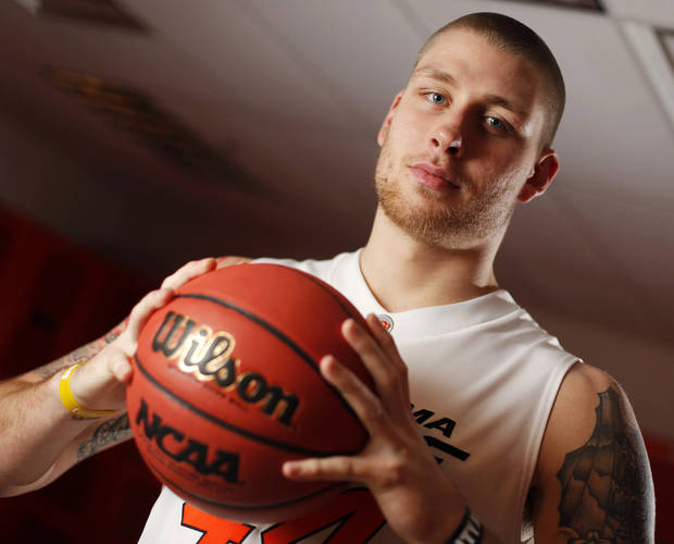 photo - COLLEGE BASKETBALL: OSU men's basketball player Philip Jurick (44) poses for a portrait at Oklahoma State University in Stillwater, Okla., Thursday, Oct. 27, 2011.  Photo by Nate Billings, The Oklahoman