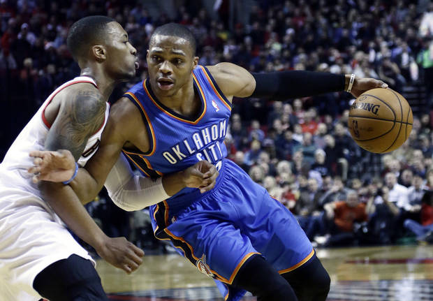 photo - Russell Westbrook is expected to be out until after the All-Star break. (AP Photo/Don Ryan)