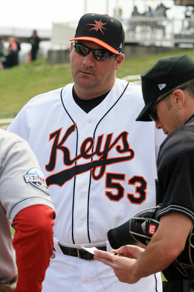 photo - Former OU basketball and baseball player Ryan Minor is now a coach in the Baltimore Orioles organization.  PHOTO COURTESY FREDERICK KEYS